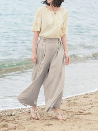ベルメゾン スカーチョの裾問題をワンポイントの工夫で解決『楽ちんスカーチョ』新発売
