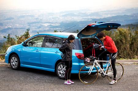 自転車の 自転車 車載 方法 車内 : 自転車+クルマで、世界が ...
