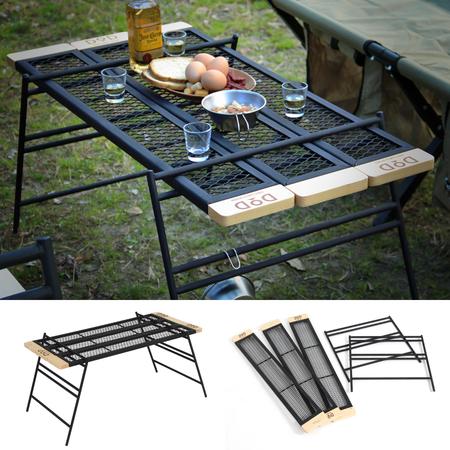 「キャンプ用品をDIY」の第一歩を応援。組み合わせ次第で棚や焚き火台にもなるスチール製テーブル発売。