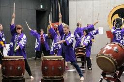 留学生たちによる和太鼓演奏 その1