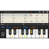 Piano keyboard screen in Chordana Viewer