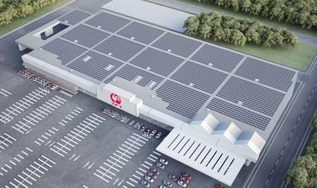 完成予想図 Copyright(C)2014, Solar Power Network Inc. All rights reserved.