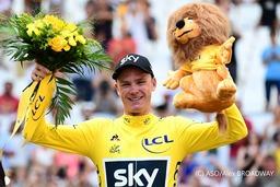 3年連続4回目のツール・ド・フランス優勝を果たしたクリス・フルーム選手
