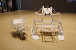 3Dプリンターで製作されたチェアスキーのプロトタイプ