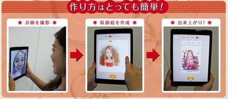 似顔絵アート作成アプリ「モーメントキャム」セット、全国レンタルサービス開始