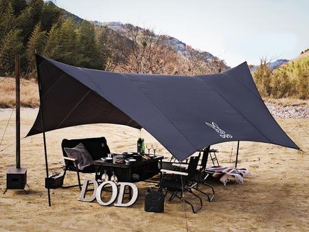 マニッシュな見た目と遮光性の高さでクールにキャンプ。テントやソファなどDOD人気製品の新色を拡販。