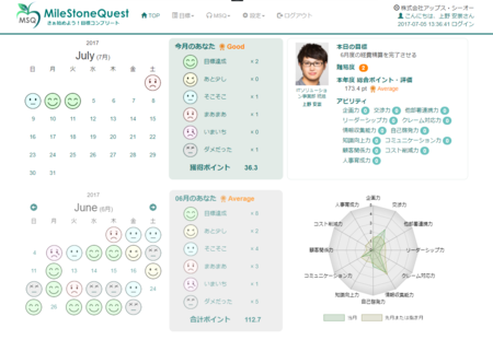 MSQ利用画面